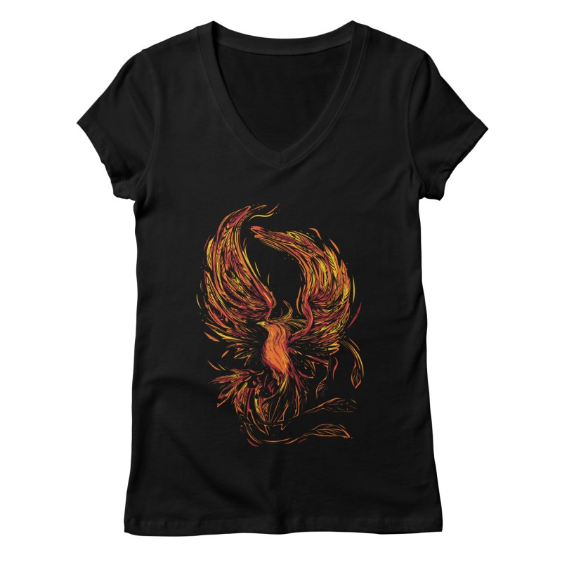 Phoenix Women's Regular V-Neck by Daniel Stevens's Artist Shop