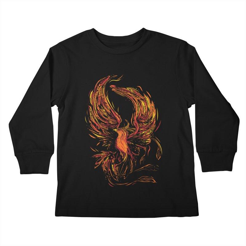 Phoenix Kids Longsleeve T-Shirt by Daniel Stevens's Artist Shop