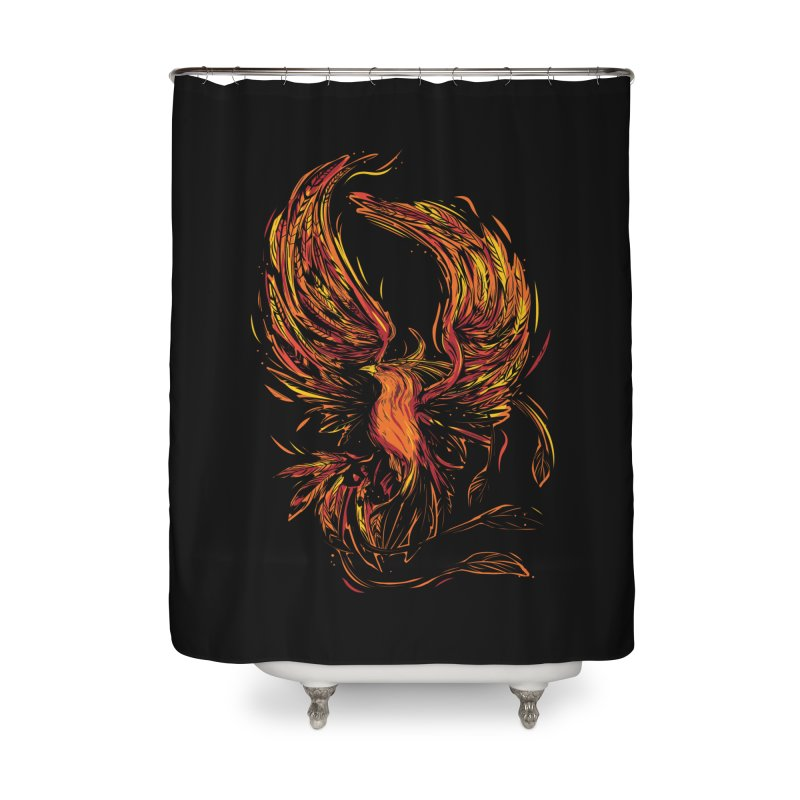Phoenix Home Shower Curtain by Daniel Stevens's Artist Shop