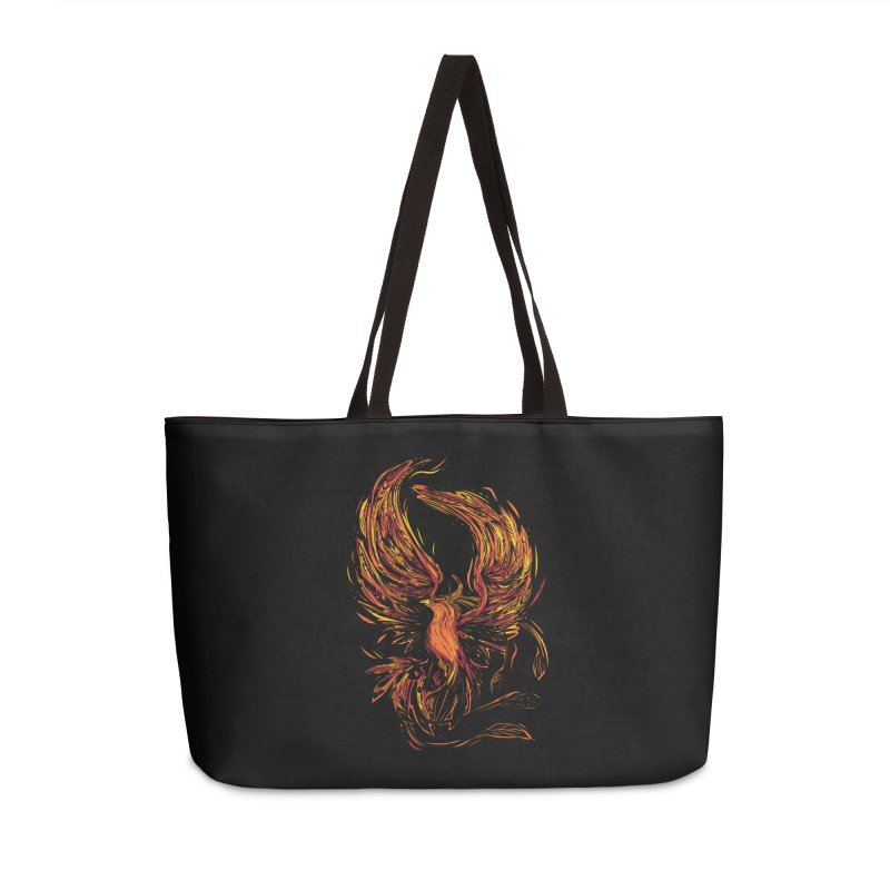 Phoenix Accessories Weekender Bag Bag by Daniel Stevens's Artist Shop