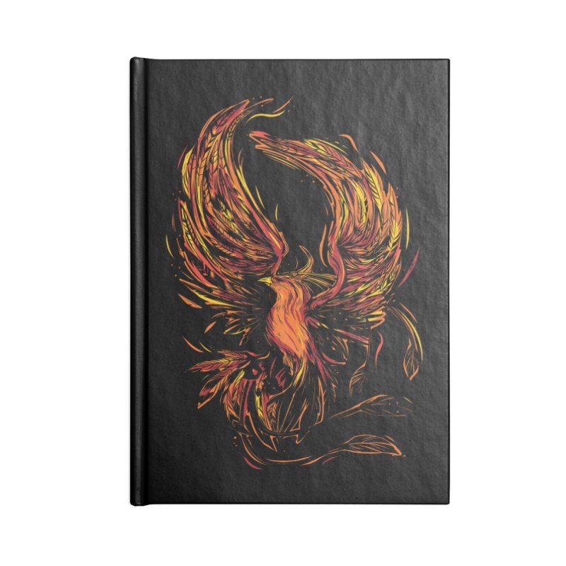 Phoenix Accessories Lined Journal Notebook by Daniel Stevens's Artist Shop