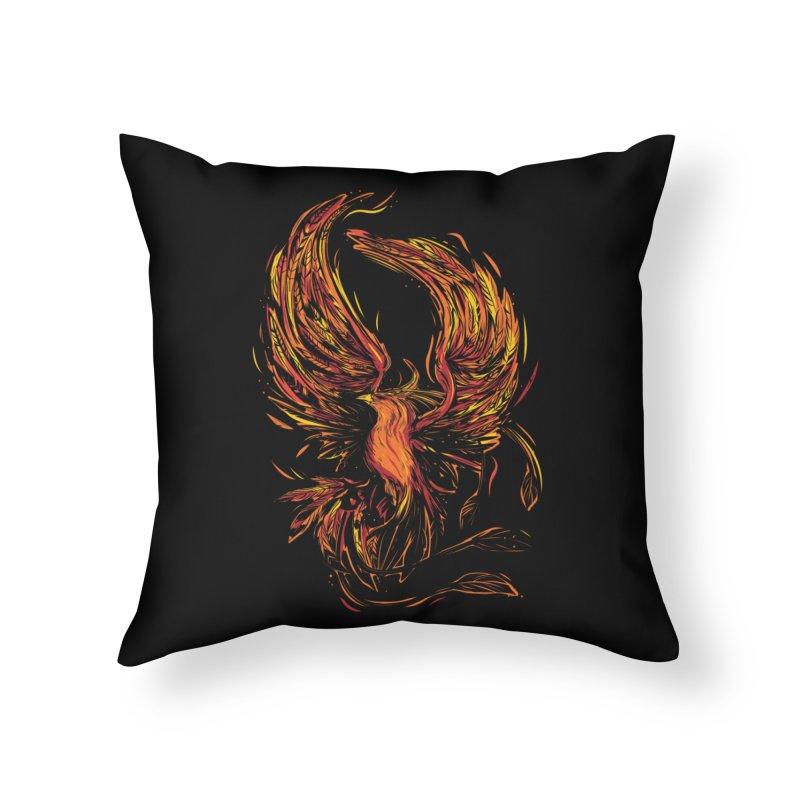 Phoenix Home Throw Pillow by Daniel Stevens's Artist Shop