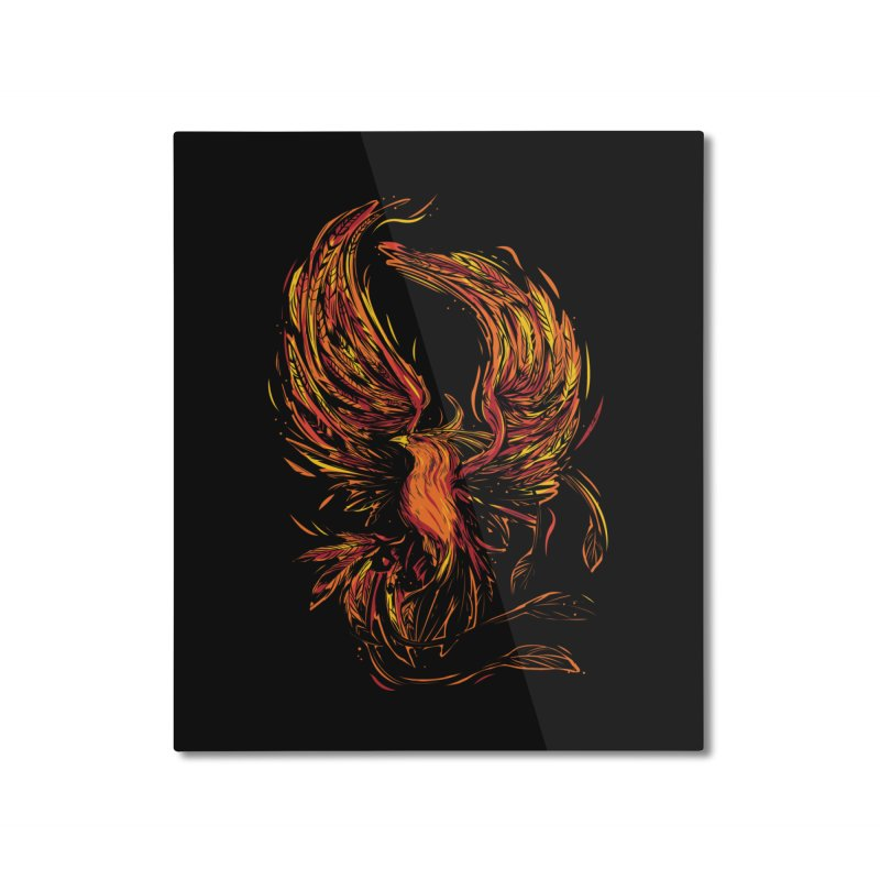 Phoenix Home Mounted Aluminum Print by danielstevens's Artist Shop