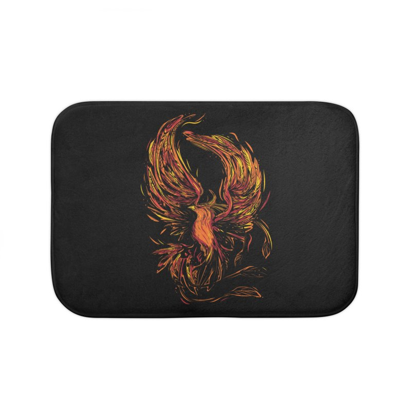 Phoenix Home Bath Mat by Daniel Stevens's Artist Shop
