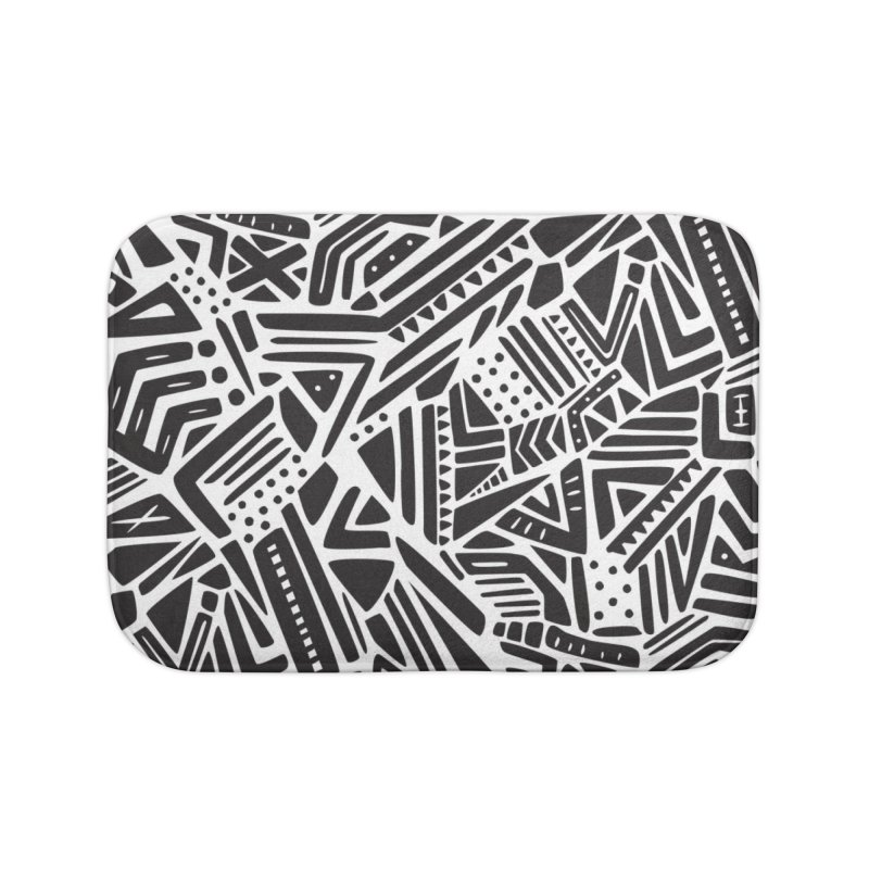 Geo Tribe Home Bath Mat by Daniel Stevens's Artist Shop