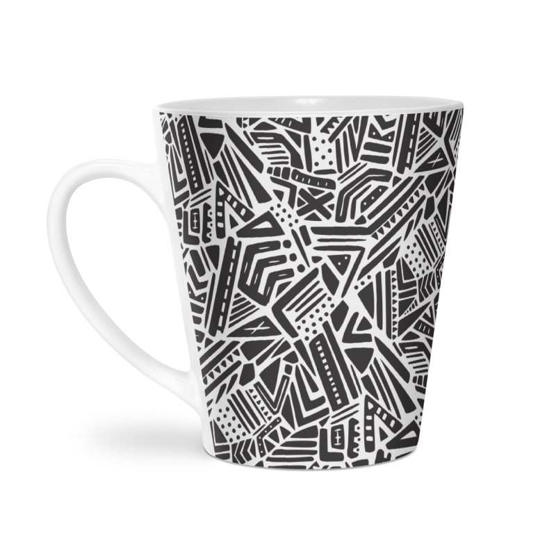Geo Tribe Accessories Latte Mug by Daniel Stevens's Artist Shop