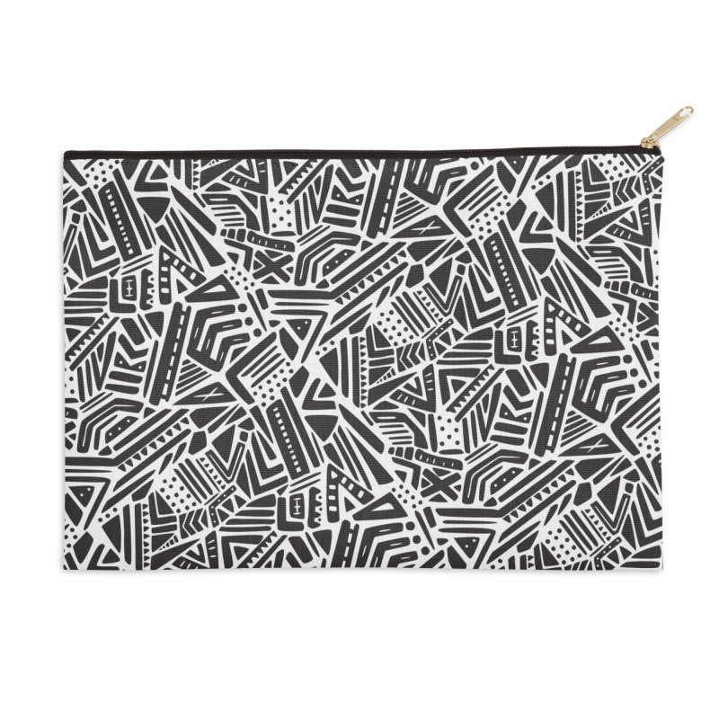 Geo Tribe Accessories Zip Pouch by Daniel Stevens's Artist Shop