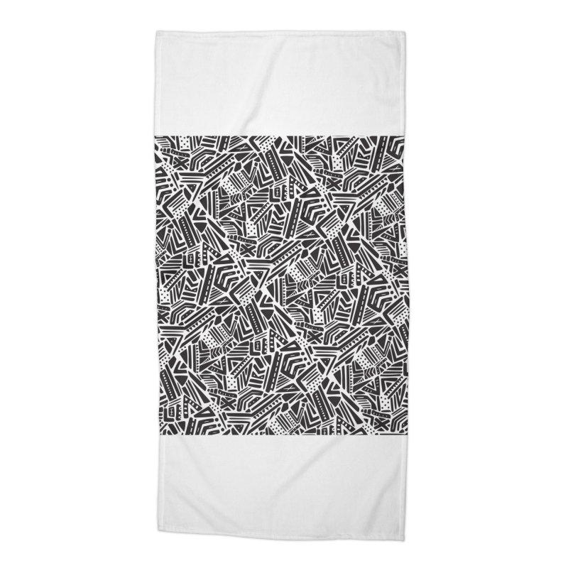 Geo Tribe Accessories Beach Towel by Daniel Stevens's Artist Shop