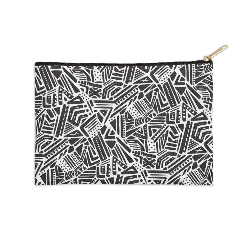 Geo Tribe Accessories Zip Pouch by Daniel Stevens's Artist Shop