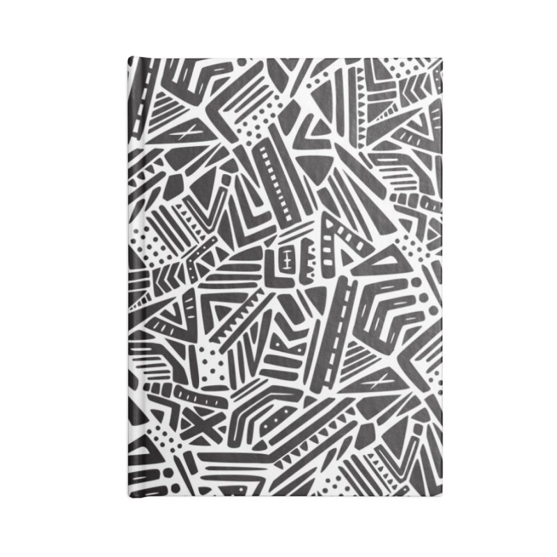 Geo Tribe Accessories Lined Journal Notebook by Daniel Stevens's Artist Shop