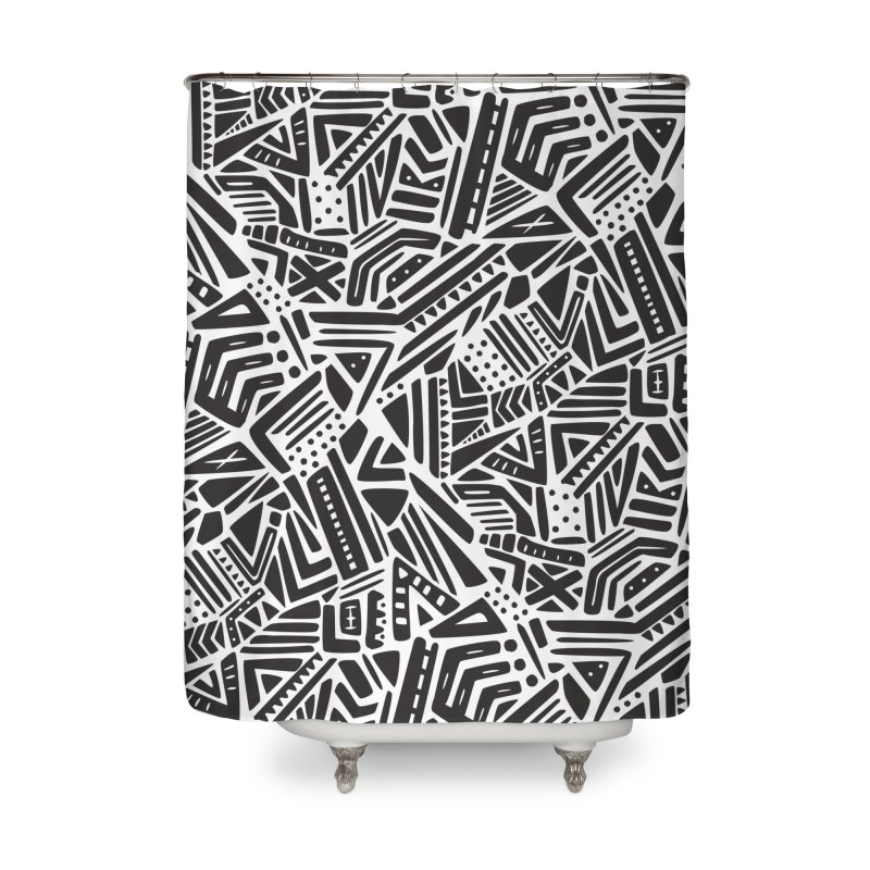 Geo Tribe Home Shower Curtain by danielstevens's Artist Shop