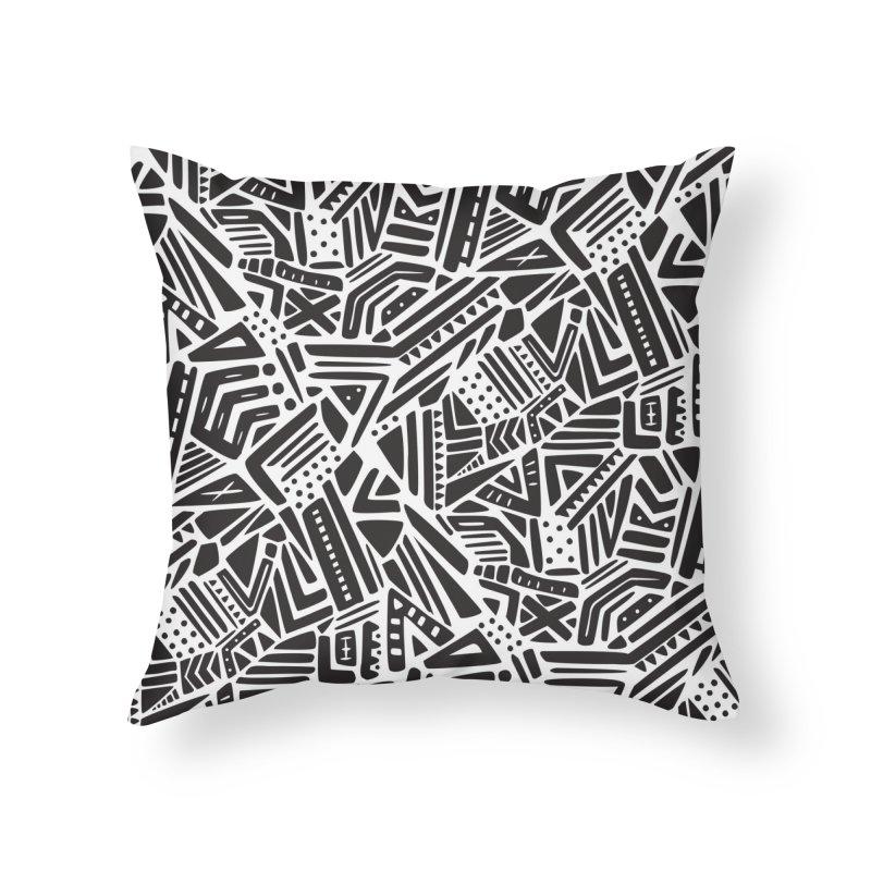 Geo Tribe Home Throw Pillow by Daniel Stevens's Artist Shop