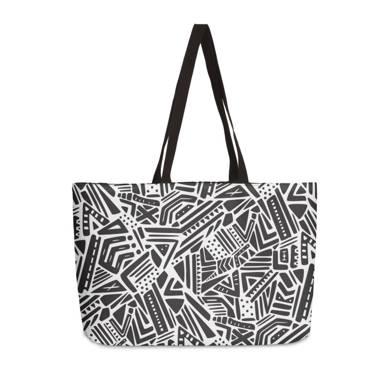 Geo Tribe Accessories Weekender Bag Bag by Daniel Stevens's Artist Shop