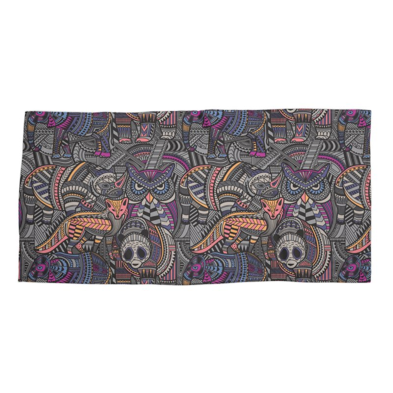 Nature's Tribe Accessories Beach Towel by danielstevens's Artist Shop