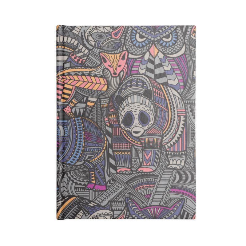 Nature's Tribe Accessories Lined Journal Notebook by Daniel Stevens's Artist Shop