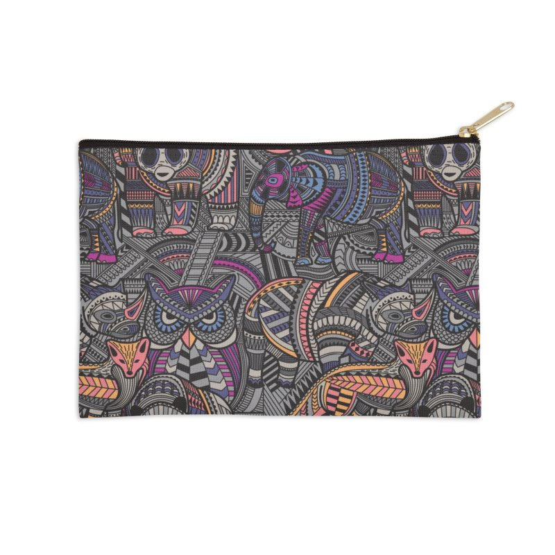 Nature's Tribe Accessories Zip Pouch by danielstevens's Artist Shop