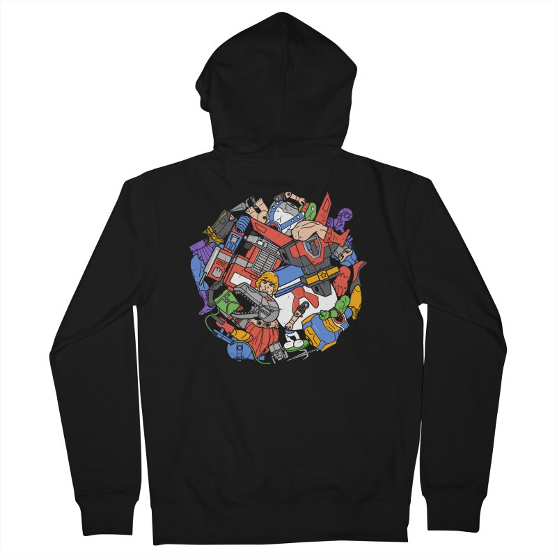 The Toy Box Men's French Terry Zip-Up Hoody by Daniel Stevens's Artist Shop