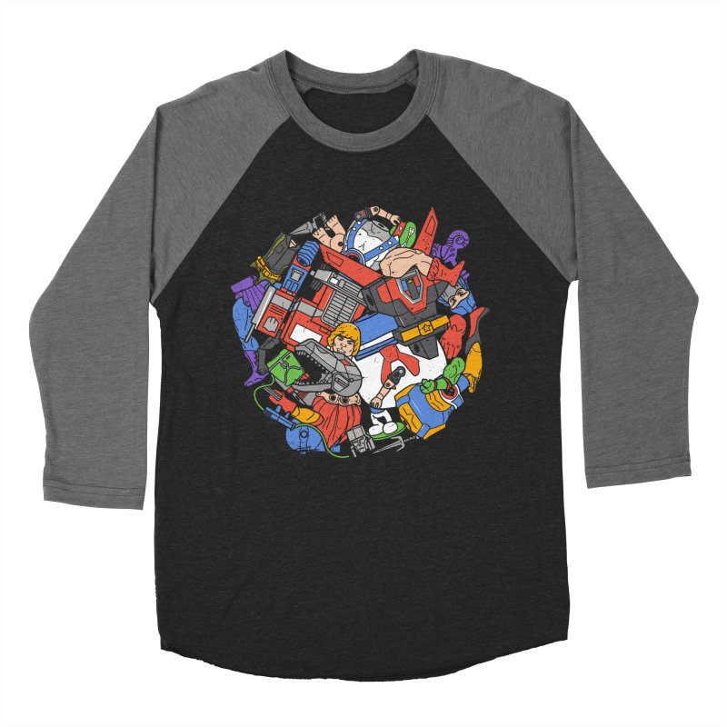 The Toy Box Men's Baseball Triblend Longsleeve T-Shirt by Daniel Stevens's Artist Shop