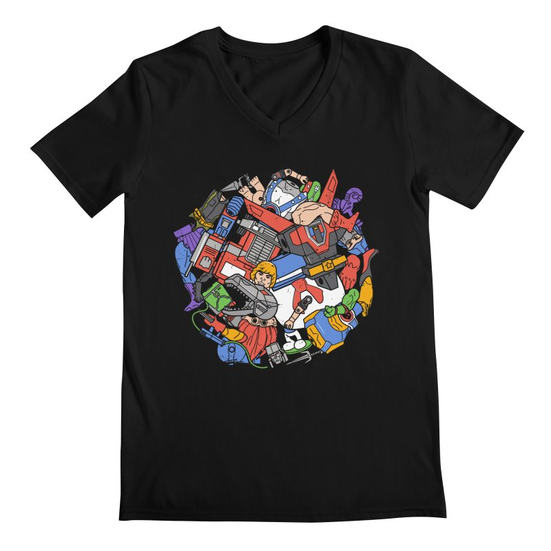 The Toy Box Men's V-Neck by Daniel Stevens's Artist Shop