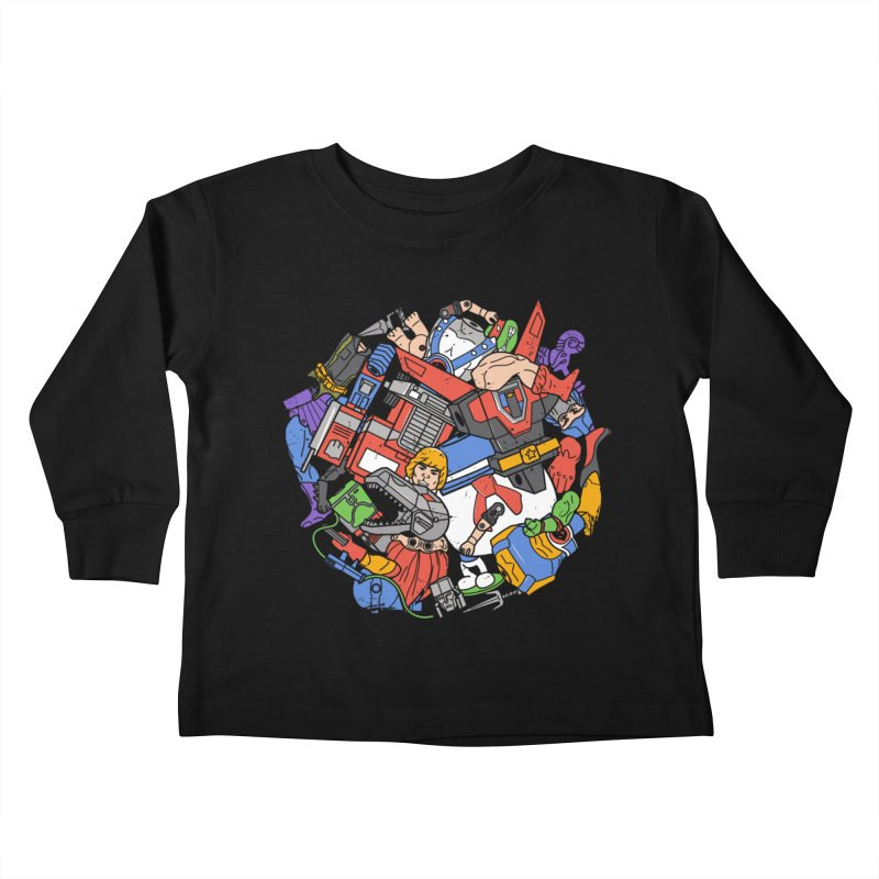 The Toy Box Kids Toddler Longsleeve T-Shirt by Daniel Stevens's Artist Shop