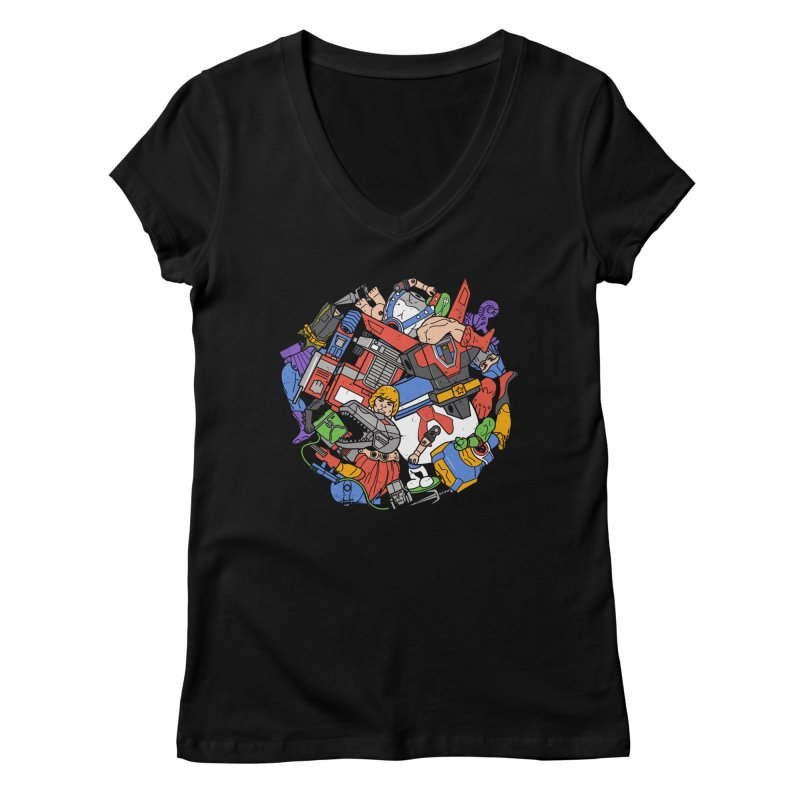 The Toy Box Women's Regular V-Neck by Daniel Stevens's Artist Shop