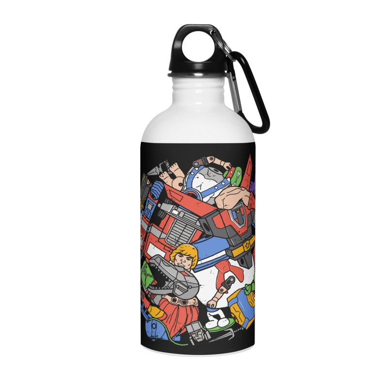 The Toy Box Accessories Water Bottle by Daniel Stevens's Artist Shop