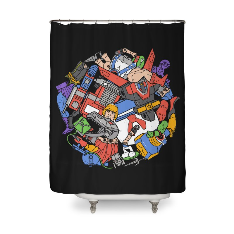 The Toy Box Home Shower Curtain by Daniel Stevens's Artist Shop