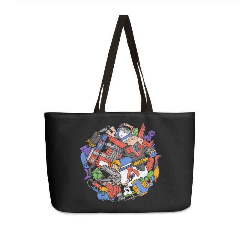 The Toy Box Accessories Weekender Bag Bag by Daniel Stevens's Artist Shop