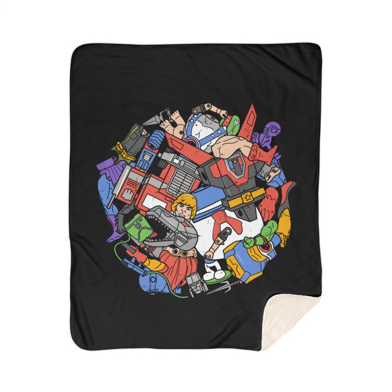 The Toy Box Home Sherpa Blanket Blanket by Daniel Stevens's Artist Shop