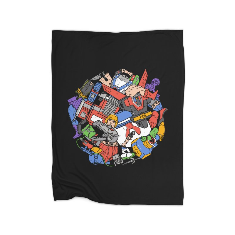 The Toy Box Home Fleece Blanket Blanket by Daniel Stevens's Artist Shop