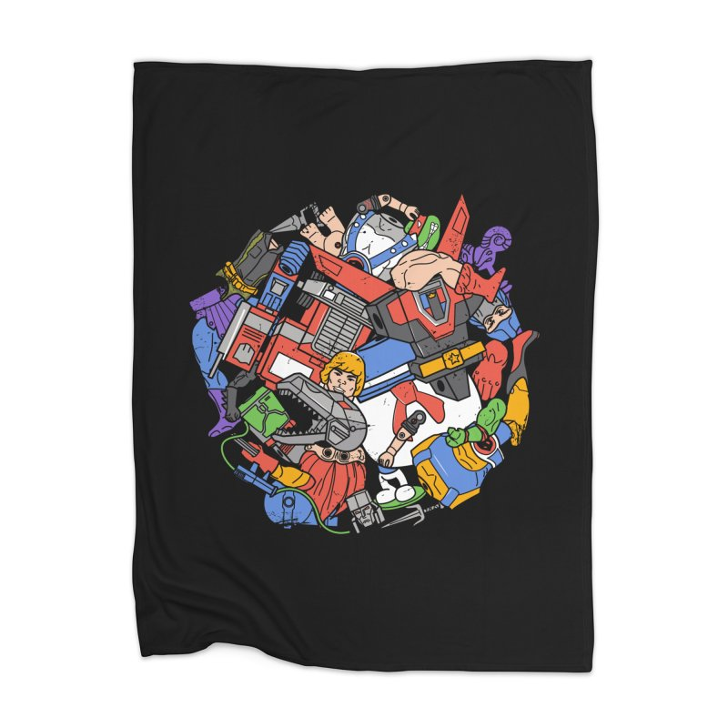 The Toy Box Home Blanket by Daniel Stevens's Artist Shop