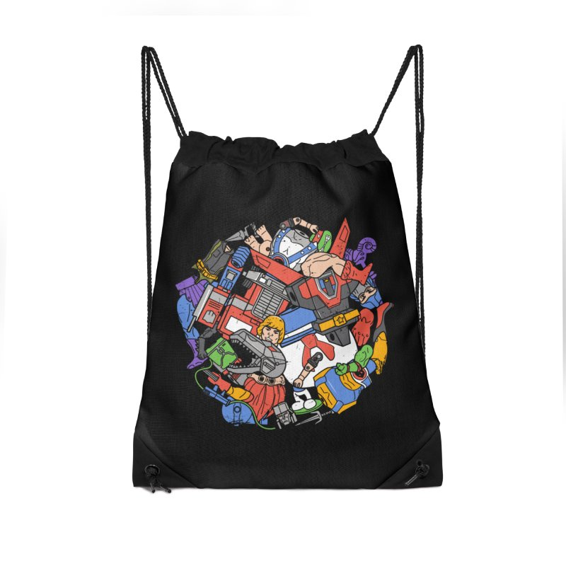 The Toy Box Accessories Drawstring Bag Bag by Daniel Stevens's Artist Shop