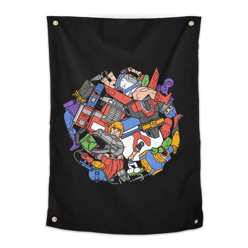 The Toy Box Home Tapestry by danielstevens's Artist Shop