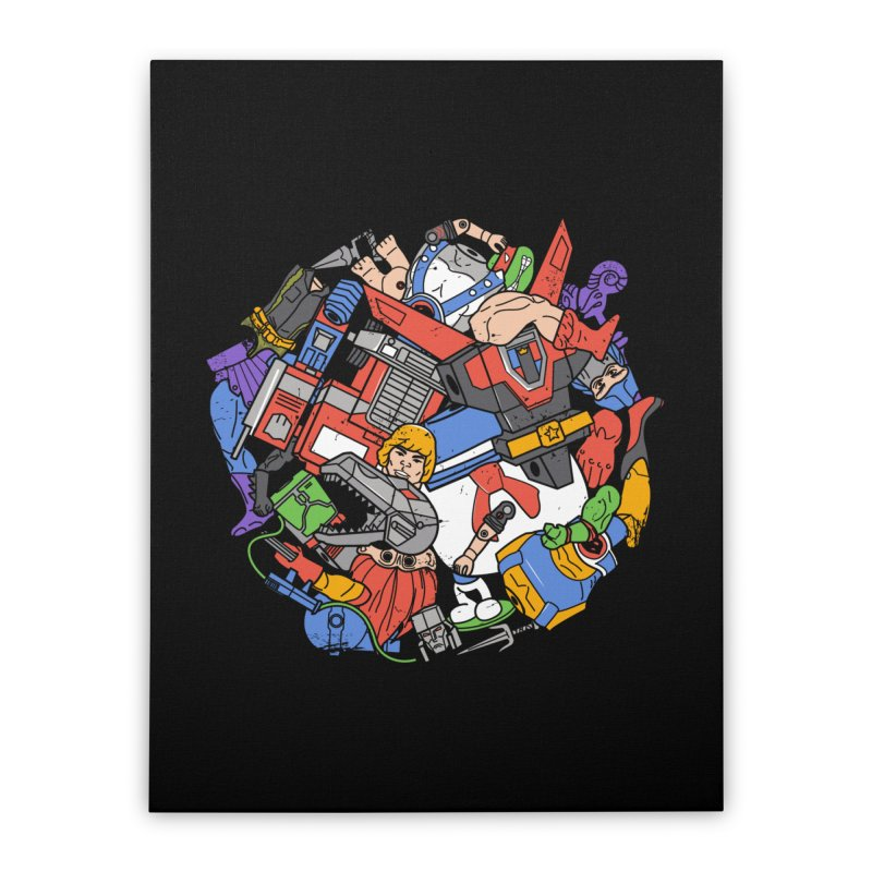 The Toy Box Home Stretched Canvas by Daniel Stevens's Artist Shop