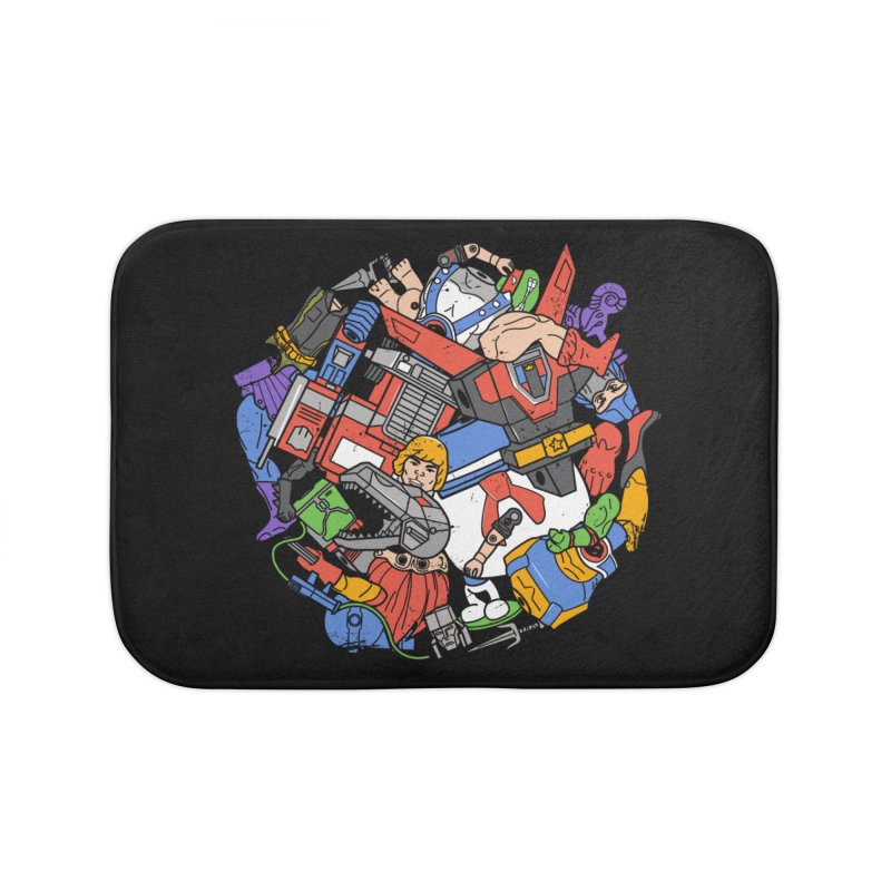 The Toy Box Home Bath Mat by Daniel Stevens's Artist Shop