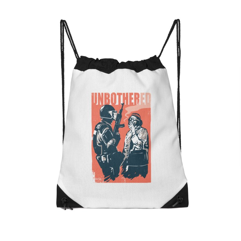 Unbothered Accessories Drawstring Bag Bag by Daniel Stevens's Artist Shop