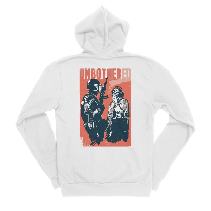 Unbothered Men's Zip-Up Hoody by Daniel Stevens's Artist Shop