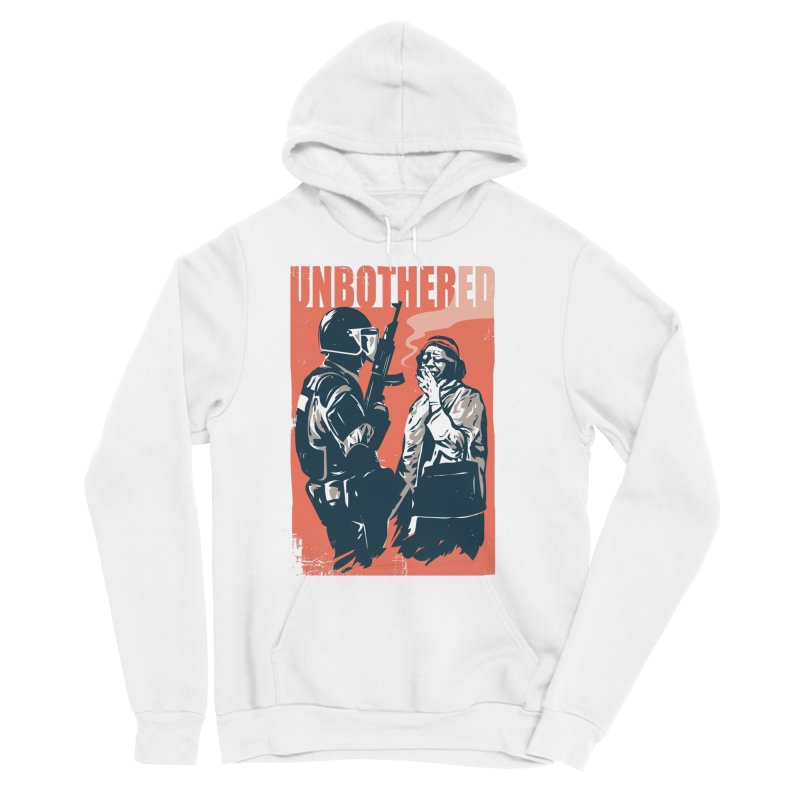 Unbothered Women's Pullover Hoody by Daniel Stevens's Artist Shop