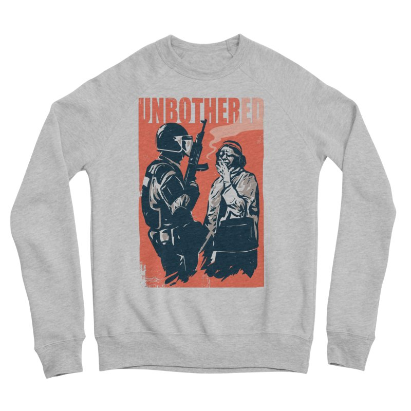 Unbothered Women's Sponge Fleece Sweatshirt by Daniel Stevens's Artist Shop