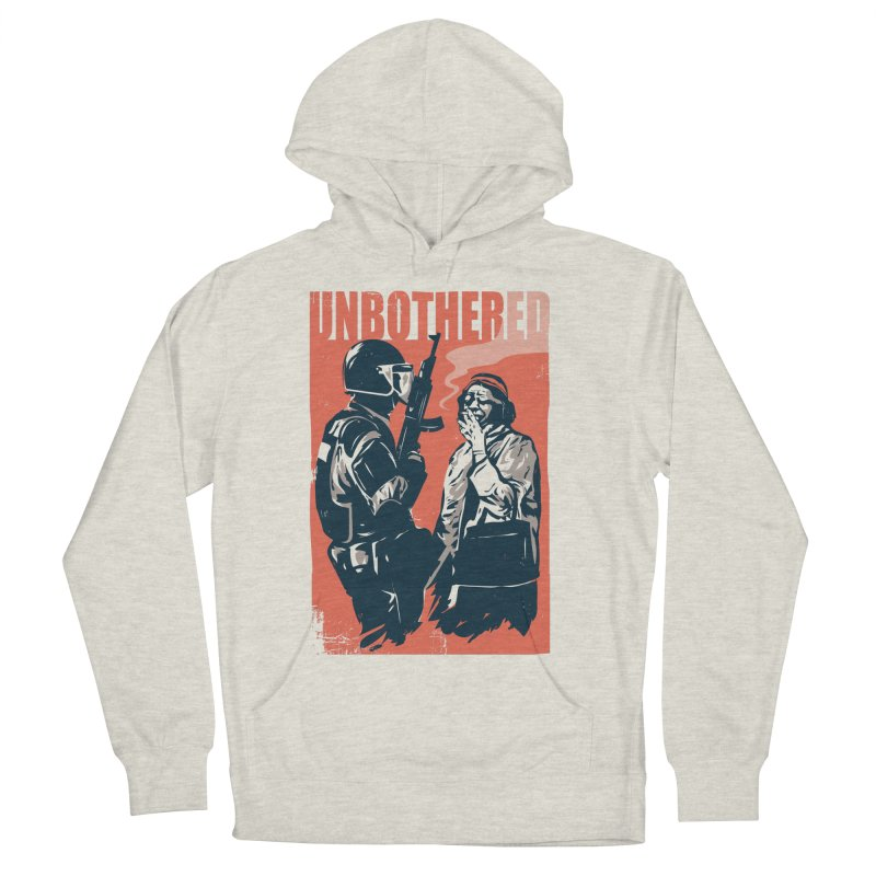 Unbothered Men's French Terry Pullover Hoody by Daniel Stevens's Artist Shop