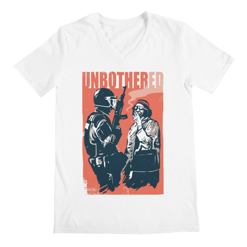 Unbothered Men's V-Neck by Daniel Stevens's Artist Shop