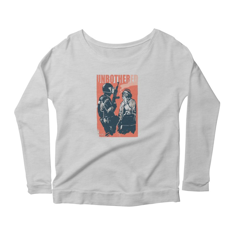 Unbothered Women's Longsleeve T-Shirt by Daniel Stevens's Artist Shop