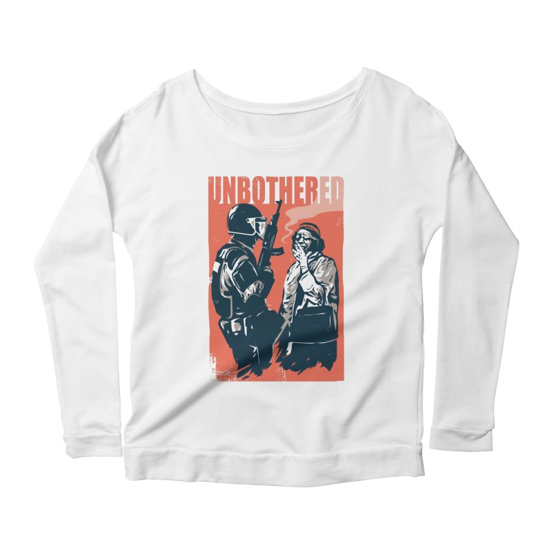 Unbothered Women's Scoop Neck Longsleeve T-Shirt by danielstevens's Artist Shop