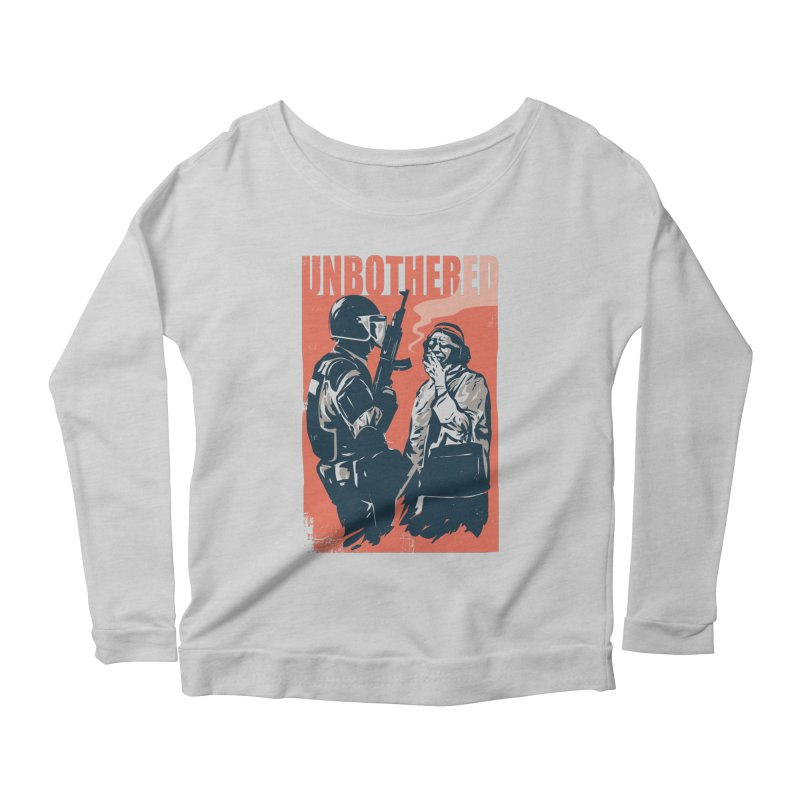 Unbothered Women's Scoop Neck Longsleeve T-Shirt by Daniel Stevens's Artist Shop