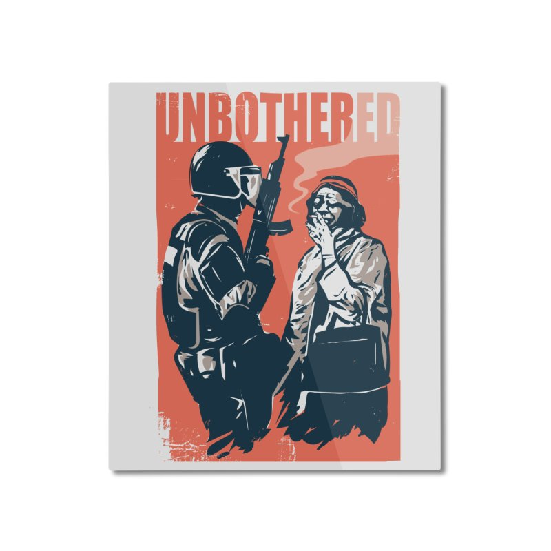 Unbothered Home Mounted Aluminum Print by Daniel Stevens's Artist Shop