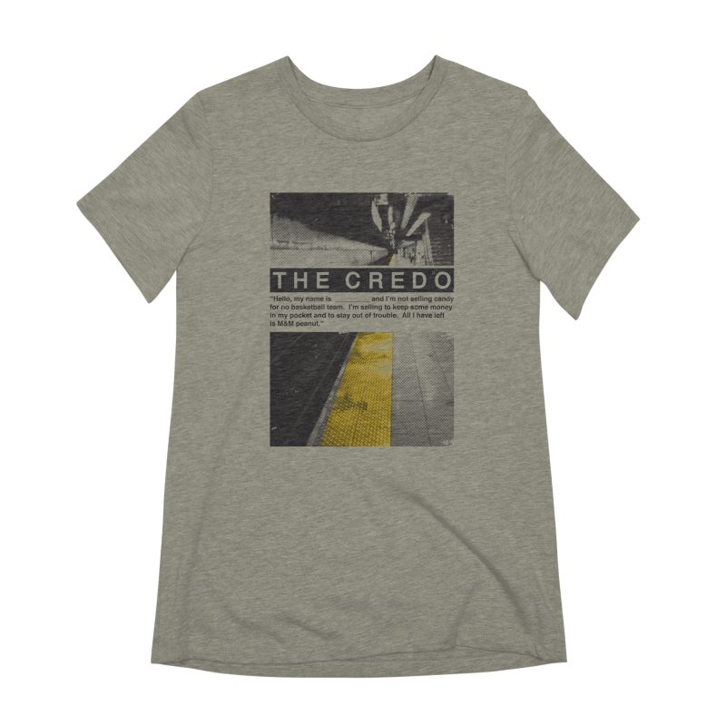 The Credo Women's Extra Soft T-Shirt by Daniel Stevens's Artist Shop