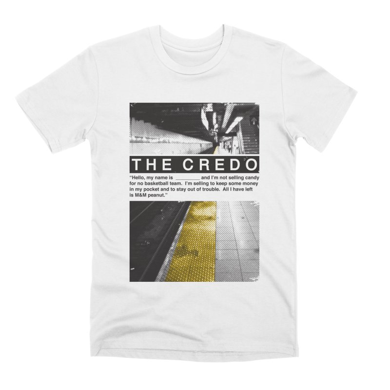 The Credo Men's Premium T-Shirt by Daniel Stevens's Artist Shop
