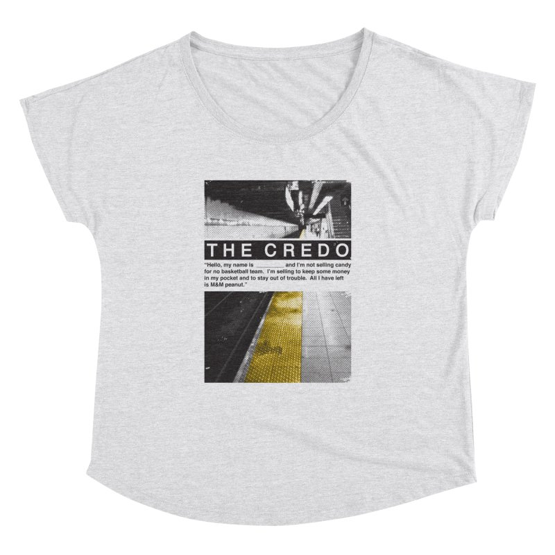The Credo Women's Scoop Neck by Daniel Stevens's Artist Shop