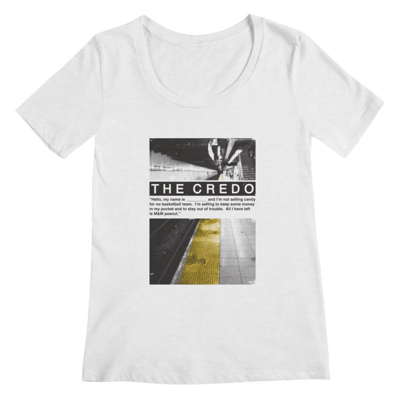 The Credo Women's Regular Scoop Neck by Daniel Stevens's Artist Shop