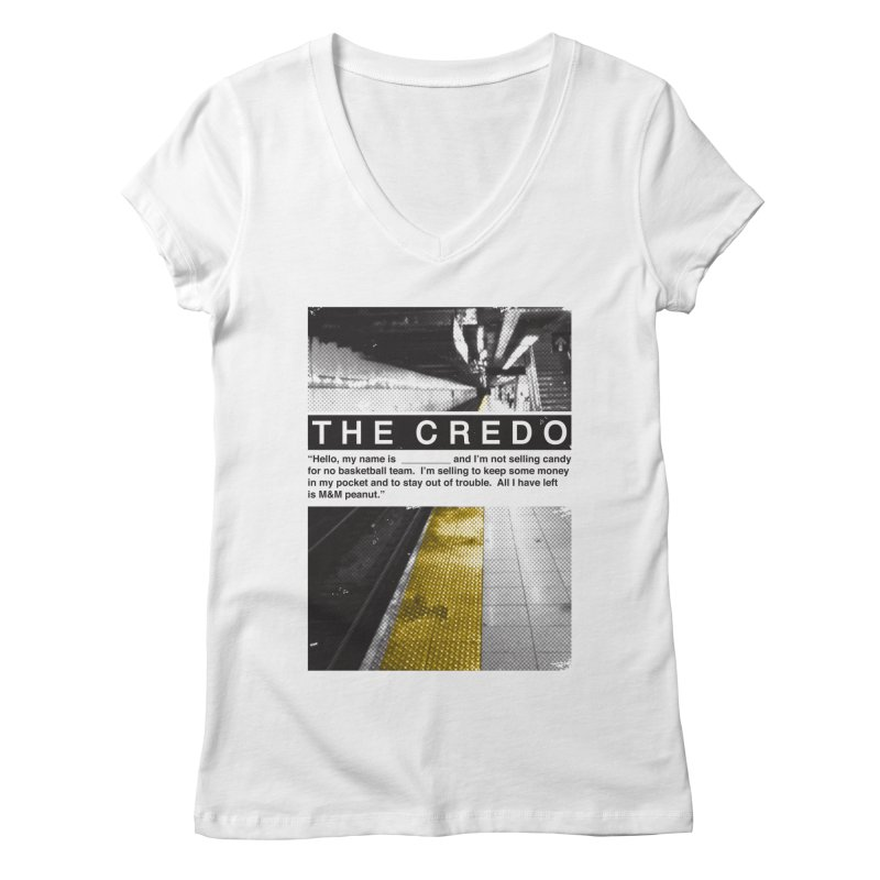 The Credo Women's Regular V-Neck by Daniel Stevens's Artist Shop